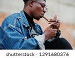 african american man in jeans...   Shutterstock . vector #1291680376