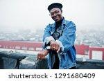 african american man in jeans...   Shutterstock . vector #1291680409