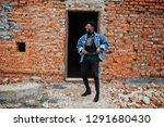 african american man in jeans...   Shutterstock . vector #1291680430