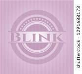 blink retro style pink emblem | Shutterstock .eps vector #1291688173