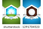 set of golf postersvector... | Shutterstock .eps vector #1291704523