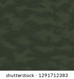 hexagon dot camouflage seamless ... | Shutterstock .eps vector #1291712383
