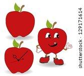 red apple cartoon vector | Shutterstock .eps vector #129171614