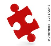 puzzle on white background.... | Shutterstock . vector #129172043