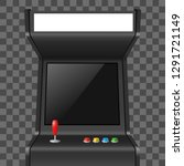 realistic detailed 3d arcade... | Shutterstock .eps vector #1291721149