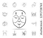 facelift icon. detailed set of... | Shutterstock .eps vector #1291728763