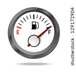 fuel indicator shows full fuel...   Shutterstock .eps vector #129172904