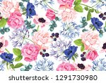 vector botanical seamless... | Shutterstock .eps vector #1291730980
