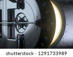 vault opens  3d rendering  | Shutterstock . vector #1291733989