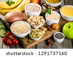 selection of good carbohydrates ... | Shutterstock . vector #1291737160