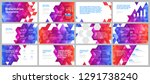 colorful presentation templates ... | Shutterstock .eps vector #1291738240
