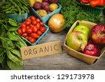 fresh organic farmers market... | Shutterstock . vector #129173978