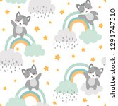 cat seamless pattern background ... | Shutterstock .eps vector #1291747510