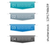 infographic ribbon banner with... | Shutterstock .eps vector #1291748659