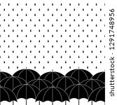 black and white umbrellas with... | Shutterstock .eps vector #1291748956