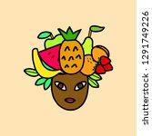 pretty african american cartoon ...   Shutterstock .eps vector #1291749226