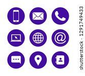 contact us icons. web icon set | Shutterstock .eps vector #1291749433