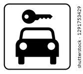 car rental sign  black and... | Shutterstock .eps vector #1291753429