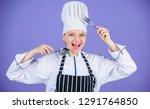 culinary arts academy. woman...   Shutterstock . vector #1291764850