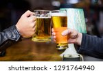 cheers concept. glass with... | Shutterstock . vector #1291764940