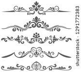 vintage floral dividers vector... | Shutterstock .eps vector #1291772383