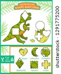 worksheet with shape matching... | Shutterstock .eps vector #1291775200