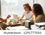 two young female  student study ... | Shutterstock . vector #1291777033