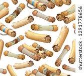 background royal scroll... | Shutterstock .eps vector #1291778656