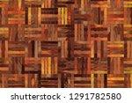 artistic woven mat rattan... | Shutterstock . vector #1291782580