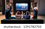 group of fans are watching a... | Shutterstock . vector #1291782703