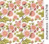 romantic feminine seamless...   Shutterstock .eps vector #129178748