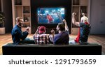 group of fans are watching a... | Shutterstock . vector #1291793659
