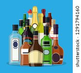 alcohol drinks collection.... | Shutterstock .eps vector #1291794160