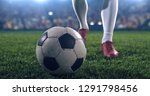 photo of a soccer player ... | Shutterstock . vector #1291798456