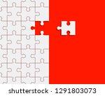 puzzle banner presentation....   Shutterstock .eps vector #1291803073