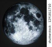 moon in black space universe... | Shutterstock . vector #1291811710