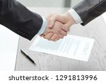 close up. handshake of business ... | Shutterstock . vector #1291813996