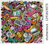cartoon vector doodles art and...   Shutterstock .eps vector #1291815073