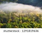 foggy spring morning.... | Shutterstock . vector #1291819636