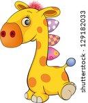 Stock vector toy giraffe cartoon 129182033
