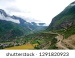 high altitude villages and... | Shutterstock . vector #1291820923