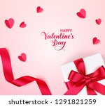 valentine's day design template.... | Shutterstock .eps vector #1291821259