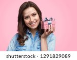lovely young female smiling and ... | Shutterstock . vector #1291829089