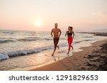 handsome caucasian man and... | Shutterstock . vector #1291829653