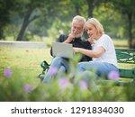 two happy seniors retirement... | Shutterstock . vector #1291834030
