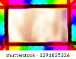 beautiful colored frame for... | Shutterstock . vector #1291835326