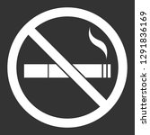 white no smoking sign on black... | Shutterstock .eps vector #1291836169