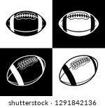 american football ball icon... | Shutterstock .eps vector #1291842136