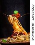 Italian Food. Pasta Spaghetti...
