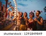 shot of four friends having fun ... | Shutterstock . vector #1291849849